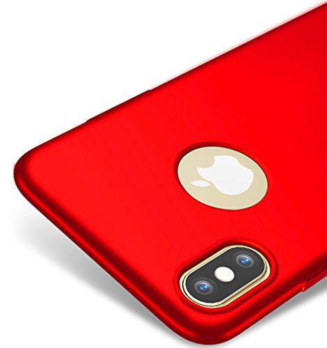 Vooway Rosso/Red Ultra Sottile Custodia Cover Case + Pellicola Protettiva per Apple iPhone X/iPhone 10 MS70426