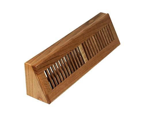 Decor Grates WL18BB Lattice Baseboard Floor Register, 18-Inch, Natural Oak