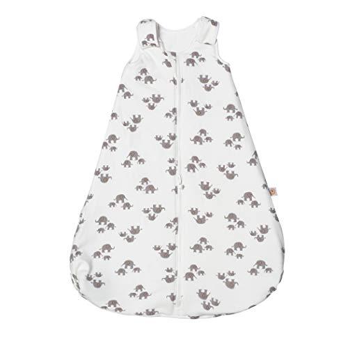 Ergobaby Baby-Schlafsack Winter Neugeborene 56-62 Baumwolle, Winterschlafsack Baby 0-6 Monate TOG 2.5, Elephant