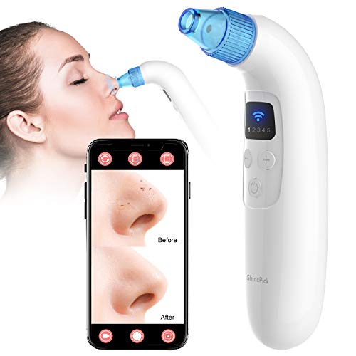 ShinePick Remover Vacuum with Camera, 1080P HD Microscope Visual Pore Vacuum Electric Blackhead Vacuum Cleaner Facial Pore Cleanser Blackhead Extractor Tool for Blackhead Whitehead Acne Removal