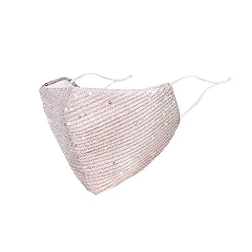 ddfb Women Face Covering Washable UK Reusable Fashion Sequin Bling Sparkly Decorative Adjustable Face Protection for Masquerade Wedding Special Occasion FGDG 2009291524