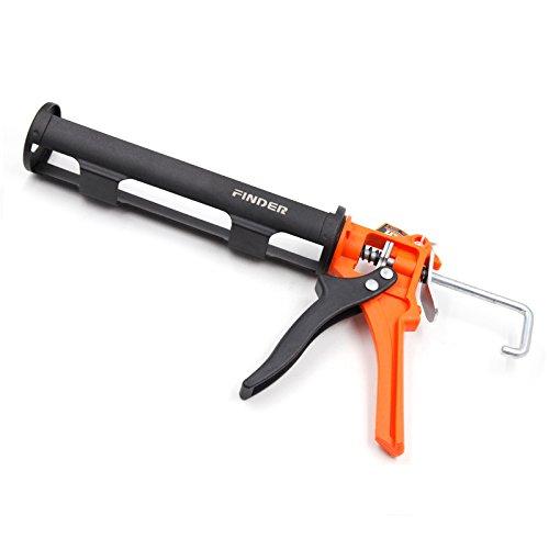Finder Standard Size 10oz Silicone Caulking Gun, Manual Cartridge Rod Cradle,Fits 10 oz tube/cartridge (Caulking gun only)
