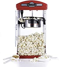 Throwback 60030 Classic Vintage Design Movie Theater Fresh Kettle Style Popcorn Maker Machine with Popcorn Scoop, Measuring Cup, and Oil Spoon, Red