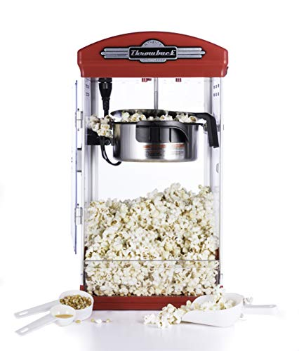 %24 OFF! Throwback 60030 Classic Vintage Design Movie Theater Fresh Kettle Style Popcorn Maker Machi...