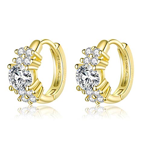 925 Sterling Silver Exquisite Petals Hoop Earrings Rose Gold Small Earrings For Women Wedding Jewelry
