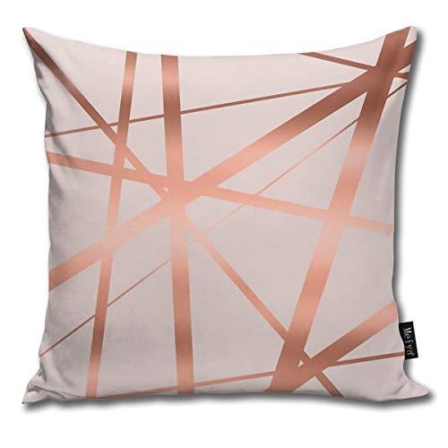 Dutars Fundas de cojín cuadradas para decoración del hogar, color rosa y cobre, para sofá cama, 45,7 x 45,7 cm