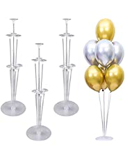 Balloon Stand Kit, Suprcrne 4 Set Table Balloon Stick Holder Clear Balloon Cup with Balloon Pole and Flower Stand Base Table Desktop Support Holder for Graduation Birthday Party Decorations