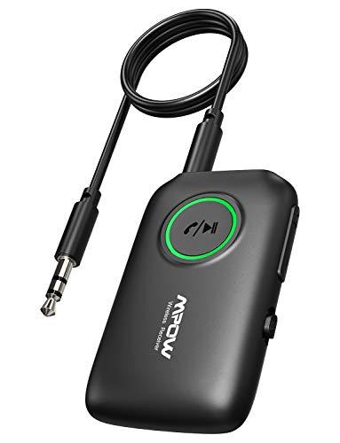 Mpow Bluetooth 5.0 Transmitter Receiver with aptX Low Latency,aptX HD, Dual Link, CVC 8.0 Noise-Cancelling, Bluetooth Transmitter for TV/Home Sound System