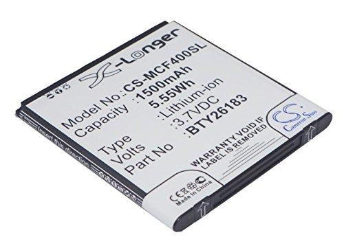 techgicoo 1500mAh/5,55Wh Akku kompatibel mit Mobistel Cynus F4, mt-7521W, mt-7521b