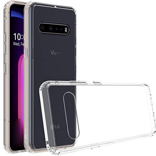 CoverON ClearGuard Series Hartschalenhülle für LG V60 ThinQ 5G, stoßfest, transparent
