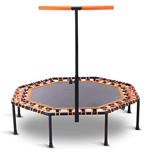 Folding Rebounder, Indoor Mini Exercise Trampoline for volwassenen met Bar |Best Home Gym for fitness en Afvallen Awesome