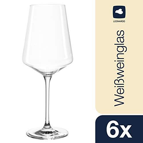 Leonardo Puccini Weißweinglas, 6-er Set, 560 ml, spülmaschinenfest, Teqton-Kristallglas, 069553