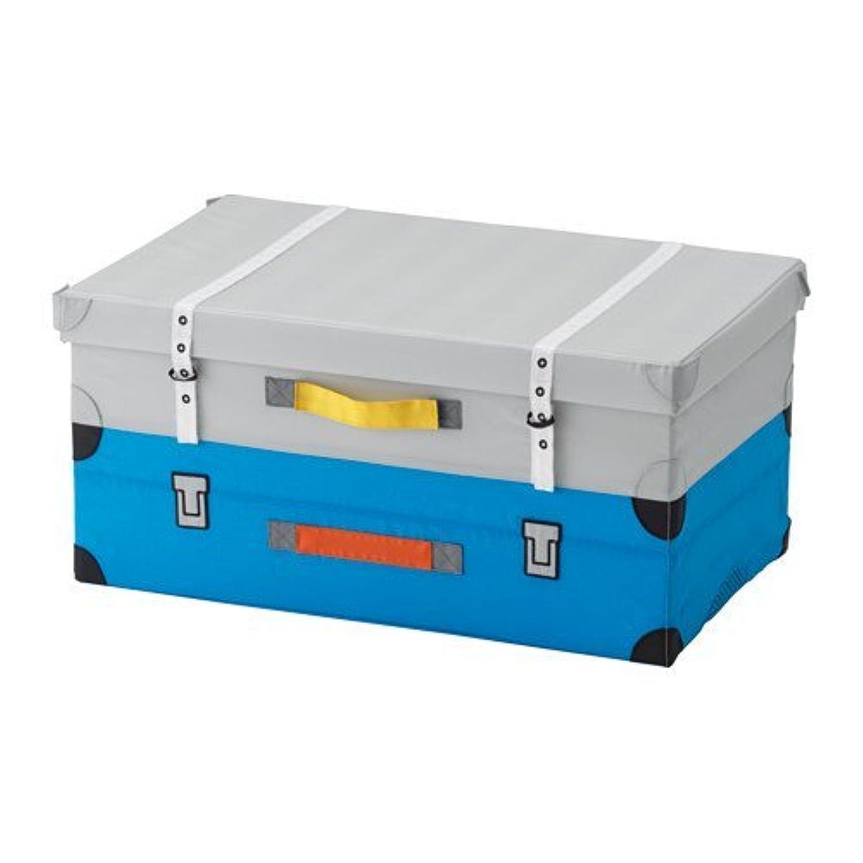 大気チーター体現するIKEA FLYTTBAR おもちゃ用トランク ターコイズ  803.288.38