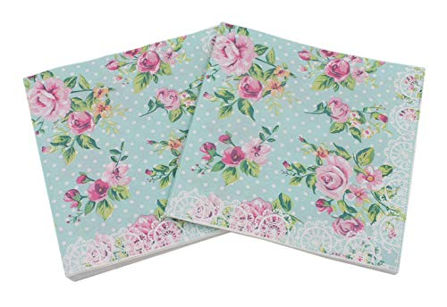 4 x Single Paper Napkins//3 Ply//Decoupage//Craft//Flower Heads in Oranges