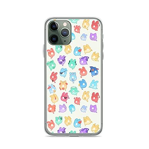 Absorción de Golpes de TPU Seelies Genshin Impact Fundas para teléfono Pure Clear compatibles con iPhone Samsung Xiaomi Redmi Note 10 Pro/Note 9/Poco M3 Pro/Note 8/Poco X3 Pro Funda