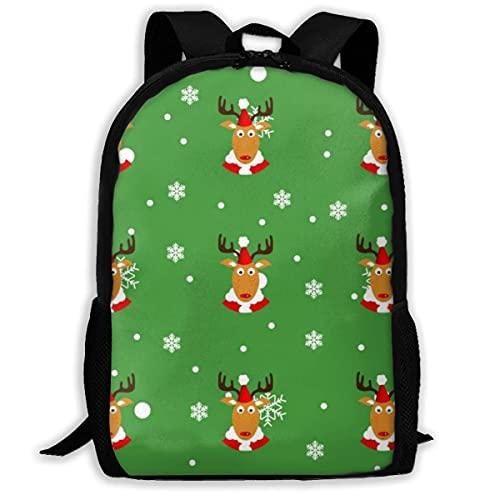 XCNGG Mochila para acampar de viaje con estampado de renos, mochila escolar, mochilas multiusos para adultos y niños