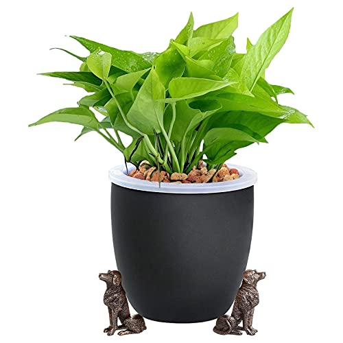 Bhgvtz Cute Animal Shaped Plant Pot Feet - 3PC Plant Risers for Pots, Flower Pot Base, Resin Statue Flower Pot Base Ornaments, Use Indoor and Outdoor to Improve Airflow and Drainage (F)