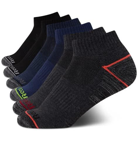 Reebok Komfort-gepolsterte Socken für Jungen mit Viertel-Schnitt (6 Stück) - - Medium