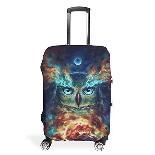 Fundas para maletas de viaje con diseño de búho, llamativas, 4 tamaños para la mayoría de los carritos, White (Blanco) - Viiry-XLXT-24