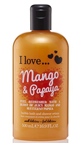 I Love... Mango & Papaya Bubble Bath And Shower Creme 500ml
