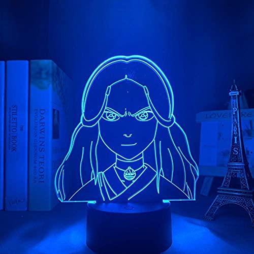 Lámpara 3D katara avatar último aviador para decoración del hogar para regalo de cumpleaños luz de noche LED avatar decoración de habitación luz katara
