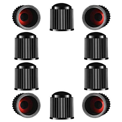 Tappi per valvole per pneumatici, 10 pezzi, in plastica, per pneumatici, per SUV, moto, camion, bici, bici, colore nero