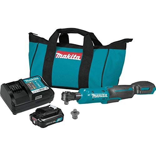 "Makita RW01R1 12V max CXT Lithium-Ion Cordless 3/8"" / 1/4"" Sq. Drive Ratchet Kit (2.0Ah)"