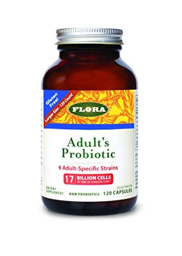 FLORA - Adult's Probiotic, 17 Billion CFU, RAW, 120 Count