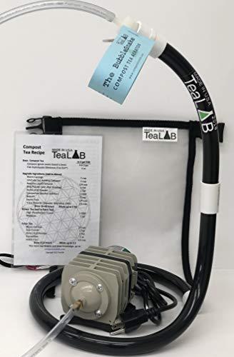 Compost Tea Kit: 5 Gallon Get Brewing Special~ BubbleSnake, Bag, Air Pump & Tubing (714GPH Air Pump)