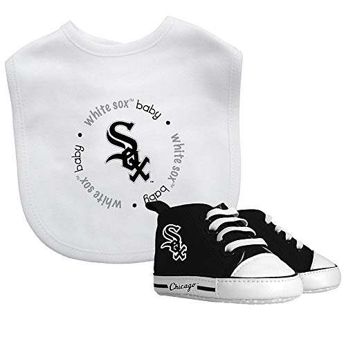Baby Fanatic MLB Chicago White Sox Unisex CWS30002Bib & Prewalker Gift Set - Chicago White Sox, See Description, See Description