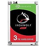 Seagate IronWolf - Disco duro interno de 3TB para sistemas NAS (5900 RPM, 64 MB de caché hasta 180 MB/s, 180TB al año de carga de trabajo) Plateado (Reacondicionado)