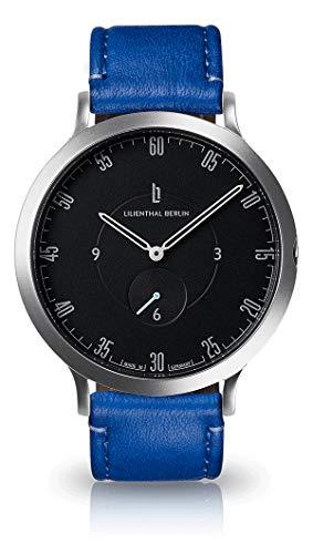Lilienthal Berlin L1 Silber Schwarz Lapis/Blau - Unisex Uhr - Made in Germany