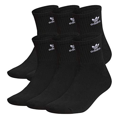 adidas Agron Socks Herren Originals Trefoil 6er Pack Quarter Socken, schwarz/weiß, Größe 39-47