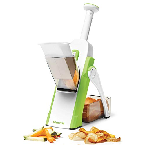 Starfrit 092935 Pump'n'Slice Chopper & Slicer, White