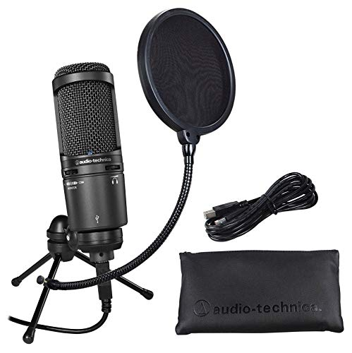 Audio Technica AT2020USB+ PLUS USB Podcast Recording Microphone