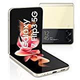 Samsung Galaxy Z Flip3 5G (17,03 cm) , faltbares Handy ohne Vertrag, großes 1,9 Zoll Frontdisplay, 256 GB interner Speicher, 8 GB RAM, Cream, inkl. 36 Monate Herstellergarantie [Exklusiv bei Amazon]
