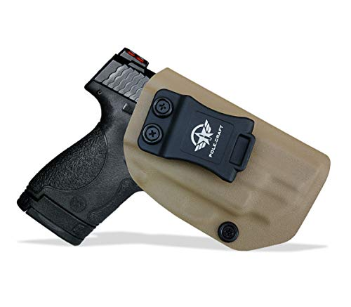 M&P Shield 9mm Holster IWB Kydex For Smith & Wesson M&P Shield 2.0 9mm 40 S&W with Integrated CT Laser Inside Waistband Carry Concealed Holster M&P Shield 9mm Case Cover Accessories (Tan, Right Hand)