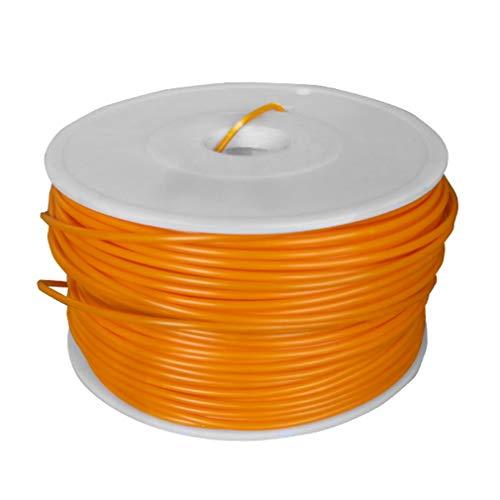 None Brand Filamento ABS para impresora 3D para repraper Rollo de 1 kg 10 m Longitud muestra 3 mm Naranja