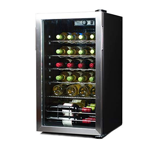 BLACK+DECKER 26 Bottle Wine Cellar, Compressor Cooling Wine Fridge, BD61536