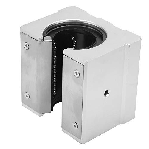 LANTRO JS - SBR50UU Bloque deslizante de rodamiento lineal abierto, bloque de rodamiento abierto de aluminio para equipos silenciosos, de alta velocidad y precisión de 50 mm
