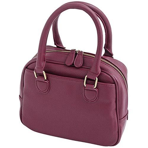 キューブバッグ ボストンバッグ ハンドバッグ レディース 和装 かわいい 無地 ショルダーバッグ 全6色 ミニボストンバッグ 特別な日 普段使い 着物に合うバッグ D:ワイン