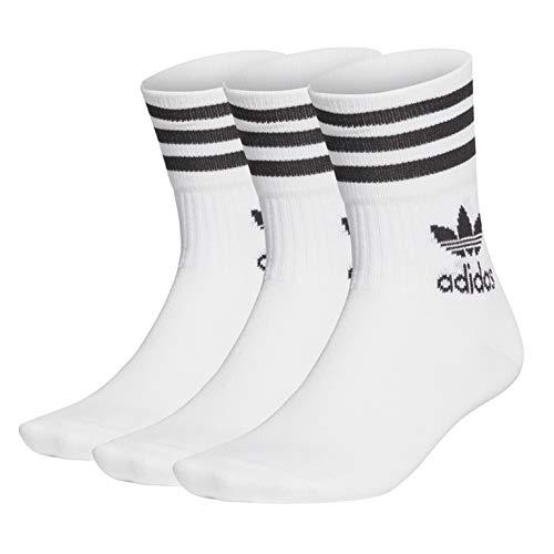 adidas Unisex Mid Cut Crw Sck Socks, Weiß Schwarz, M EU