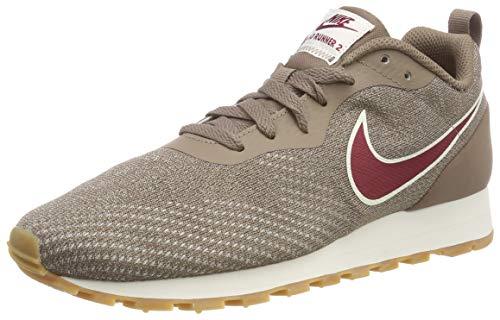 Nike Wmns Md Runner 2 Eng Mesh, Zapatillas de Running para Mujer, Multicolor (Mink Brown/Red Crush-String 200), 40.5 EU