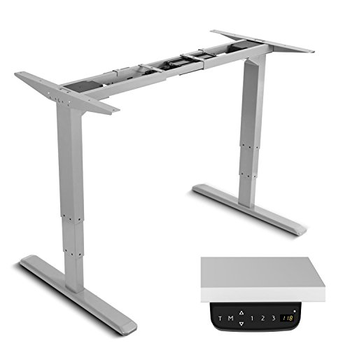 Maclean MC-763 Tischgestell Elektrisch Höhenverstellbare Arbeitstisch Schreibtisch ohne Tischplatte