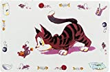 Trixie Comic Cat Print Place Mat, 44 x 28 cm