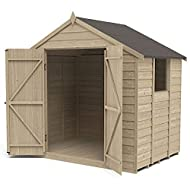 An attractive garden shed made with traditional straight cut overlap timber boards Easy to build and move improved design with smaller sections for easy assembly Strong construction with additional framing and robust Double Z framed door Solid timber...