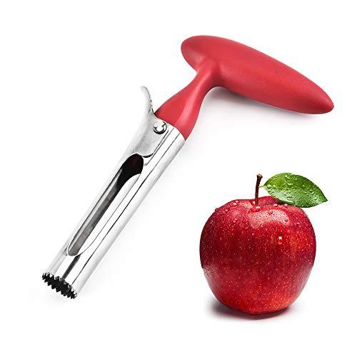 YISUYA Edelstahlkernentferner für Apfel oder Birne, mit scharfer gezackter Klinge, mit rutschfestem Griff, Obstwerkzeug für Haushalt und Küche