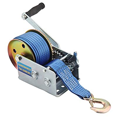 Hand Winch With Strap Hand Crank Gear Winch With Automatic Brake Auto Manual Winch for ATV Boat Trailer