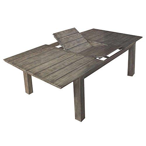 Tavolo allungabile 200/250cm in legno di acacia grigio Gray Old esterno AC805048