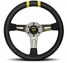 Momo R1907/33S Steering Wheel (MOD DRIFT Black Suede), 1 Pack